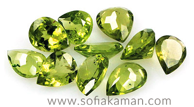 August Birthstone - Cut Peridot