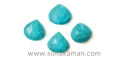 December Birthstone - Faceted Turquoise