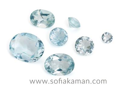 March Birthstone - Faceted Aquamarine Gemstones