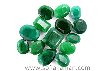 May Birthstone - Cut Emeralds