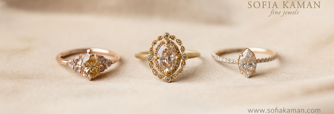 Sofia Kaman Champagne Diamond Engagement Rings