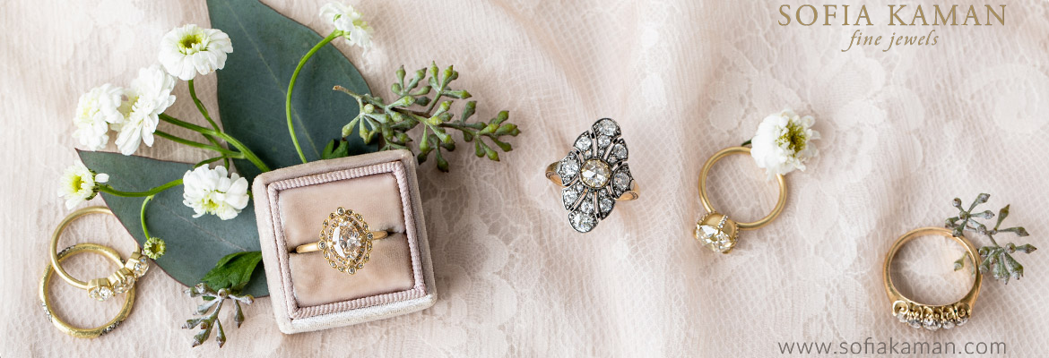 Unique Engagement Rings with a Vintage Romantic by Sofia Kaman