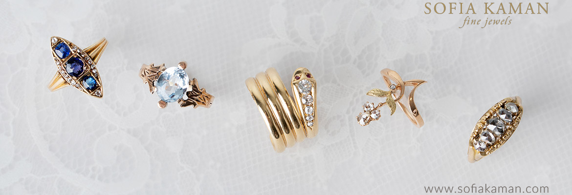 Sofia Kaman Curated Vintage Rings