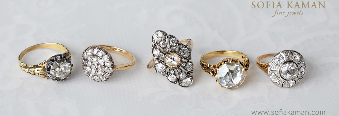 Sofia Kaman Victorian Engagement Rings