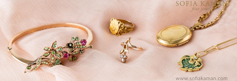 Sofia Kaman Vintage Floral Jewelry