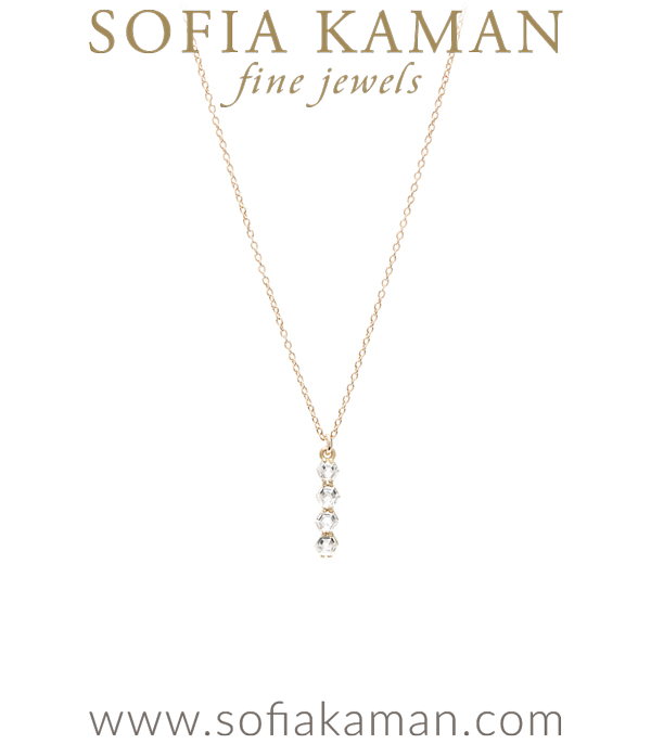 Hexagon Diamond Bar Necklace