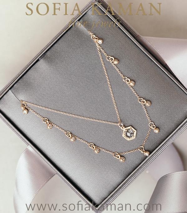 Hexagon Bridal Necklace For Unique Engagement Rings