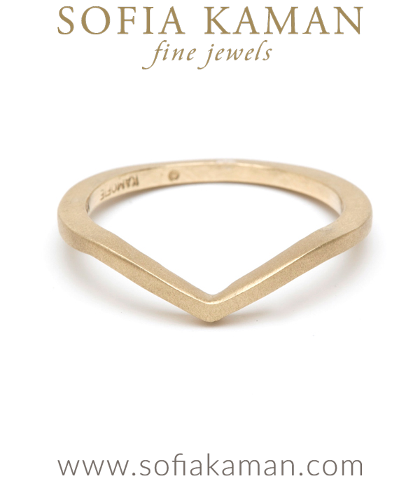 Gold Chevron Stacking Ring Bohemian Wedding Band made in Los Angeles