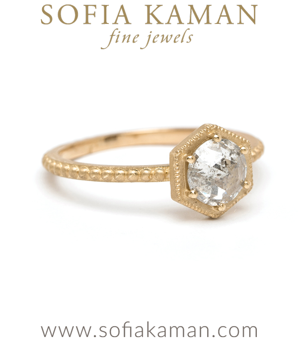 Sofia Kaman Hexagon Engagement Ring