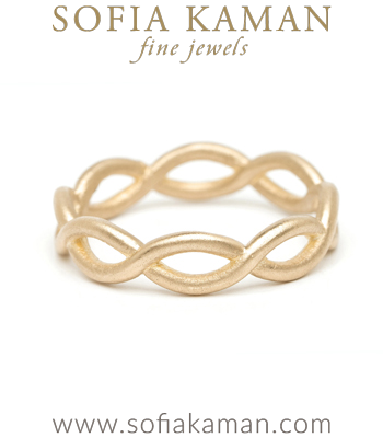 Infinity Boho Stacking Ring Bohemian Wedding Band designed by Sofia Kaman handmade in Los Angeles