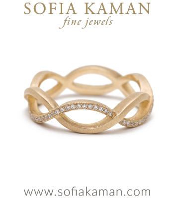 Diamond Infinity Unique Handmade Wedding Band made in Los Angeles