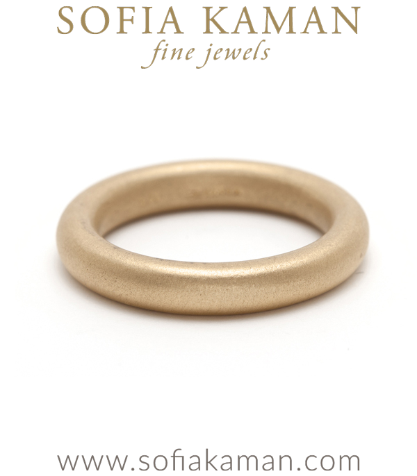 Matte Gold Stacking Donut Band