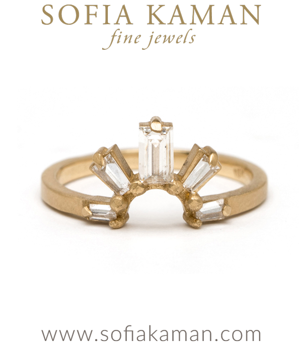 Gold Diamond Boho Stacking Ring Handmade Wedding Band designed by Sofia Kaman handmade in Los Angeles using our SKFJ ethical jewelry process.