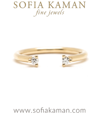 Adjustable Diamond Wedding Band for Engagement Rings designed by Sofia Kaman handmade in Los Angeles