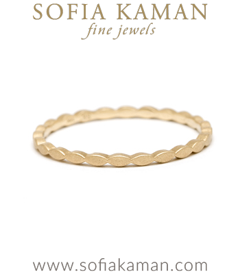 14K Gold Marquise Stacking Ring designed by Sofia Kaman handmade in Los Angeles