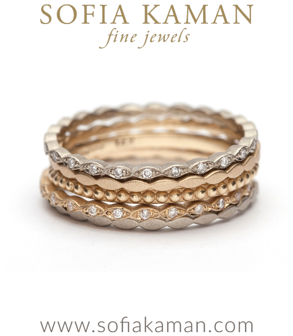 Petite Marquis Eternity Band Stacked