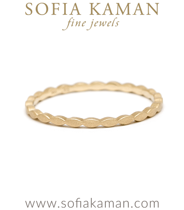 14K Gold Marquise Stacking Ring designed by Sofia Kaman handmade in Los Angeles using our SKFJ ethical jewelry process.