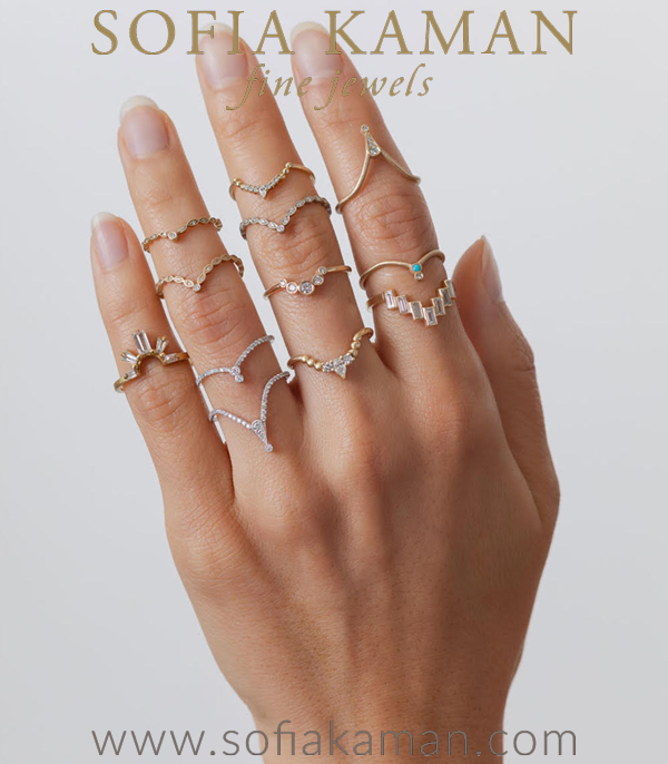 Sofia Kaman Unique Boho Stacking Rings