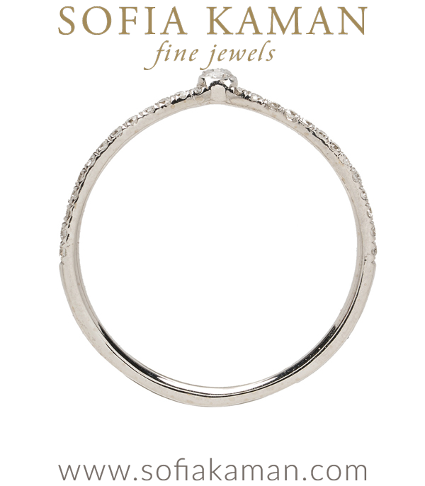 Pave Diamond Boho Stacking Ring