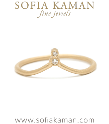 Bezel set Diamond Bridal Stacking Ring designed by Sofia Kaman handmade in Los Angeles
