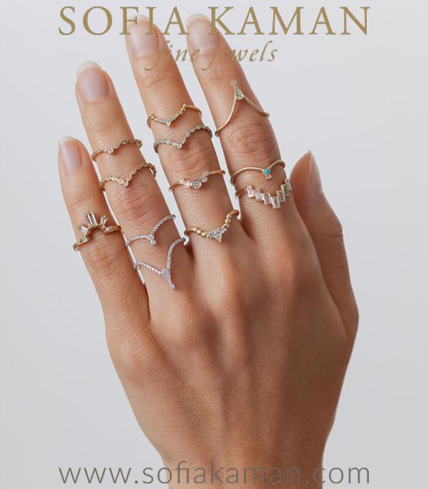 Sofia Kaman Unique Boho Stakcing Rings