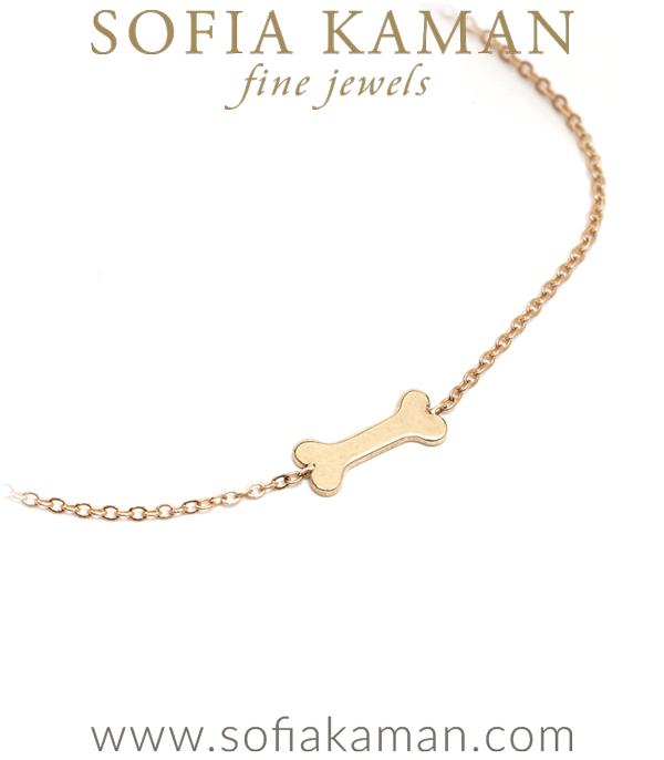 Sofia Kaman Dog Bone Good Luck Charm Bracelete