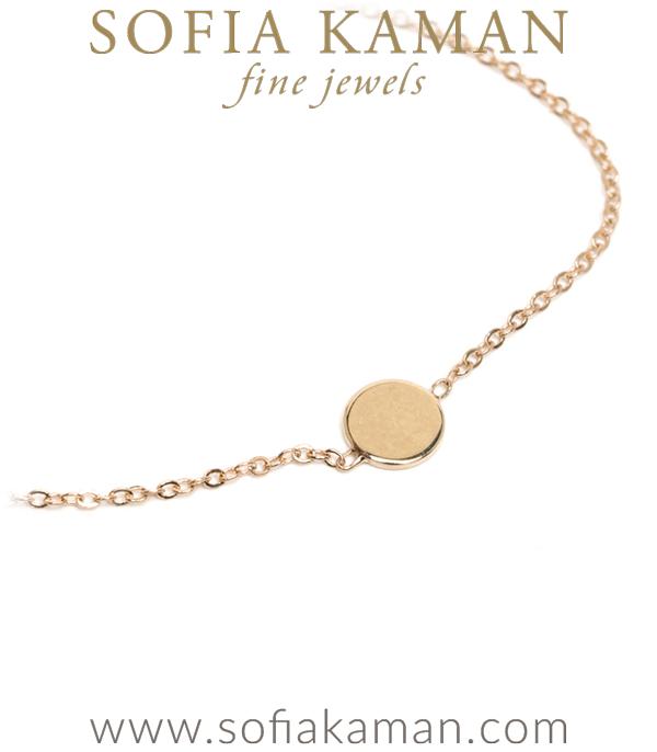 Gold Charming Bff Gold Disk Bracelette