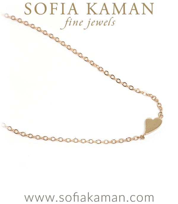 Gold Petite Heart Charm Bracelette