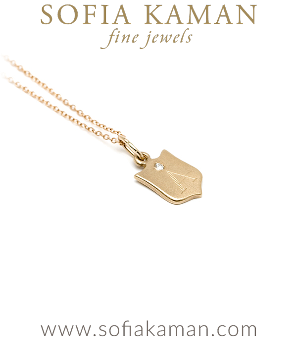 14k Baby Sheild Gift Necklace