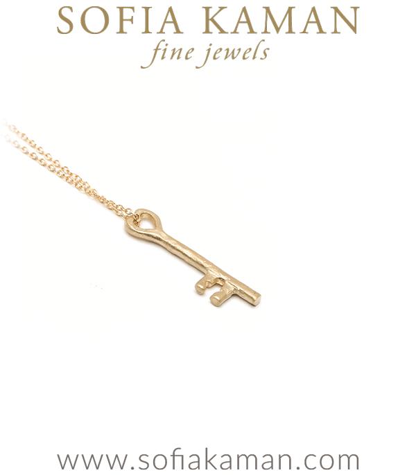 14k Gold Key Necklace