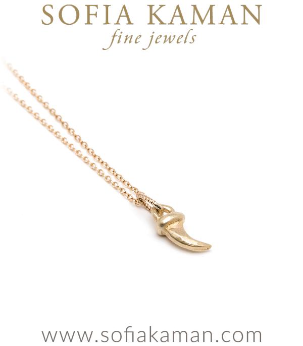 Sofia Kaman Kitty Claw Charm Necklace