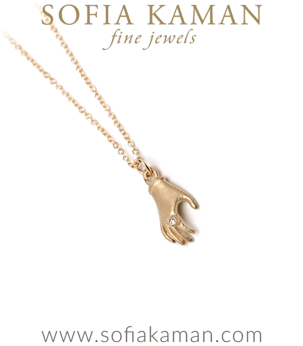 Sofia Kaman Vintage Style Hand Charm Necklace