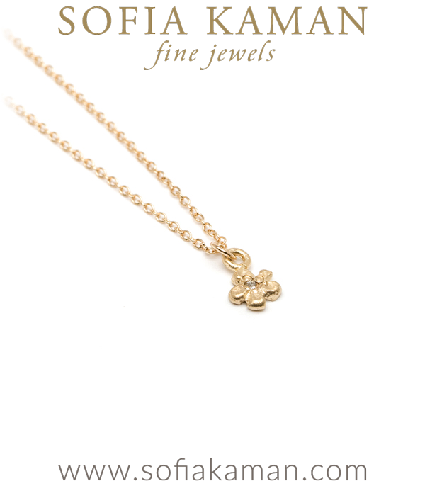 Sofia Kaman Daisy Charm Necklace