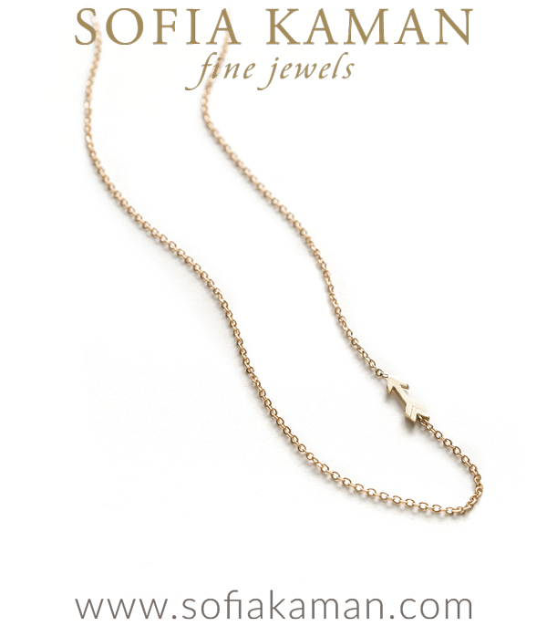 Gold Charm Arrow Necklace By Sofia Kaman