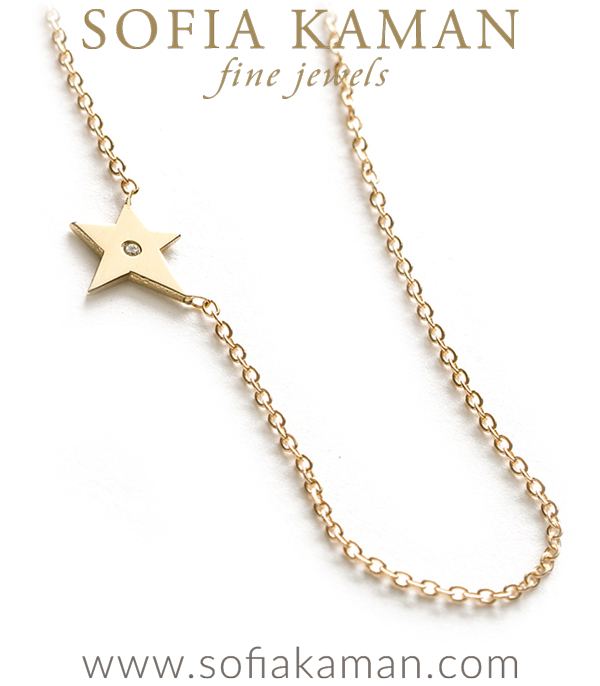 14k Gold Mini Star Charm Necklace
