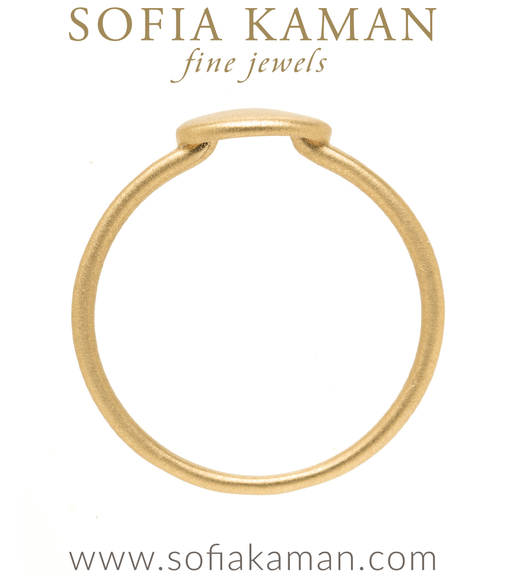 14k Yellow Gold Engravable Signet Charm Ring