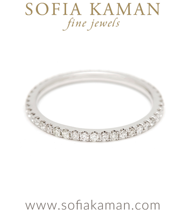 Diamond Boho Stacking Ring Bohemian Eternity Wedding Band designed by Sofia Kaman handmade in Los Angeles using our SKFJ ethical jewelry process.