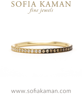 Light and Dark Diamond Eternity Band Perfect for One of a Kind Engagement Rings designed by Sofia Kaman handmade in Los Angeles