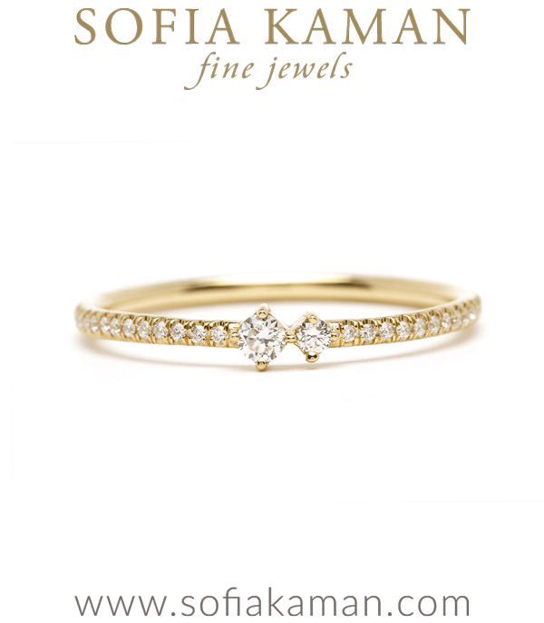 Non-Traditional Wedding Band For One of a Kind Engagement Rings designed by Sofia Kaman handmade in Los Angeles using our SKFJ ethical jewelry process.