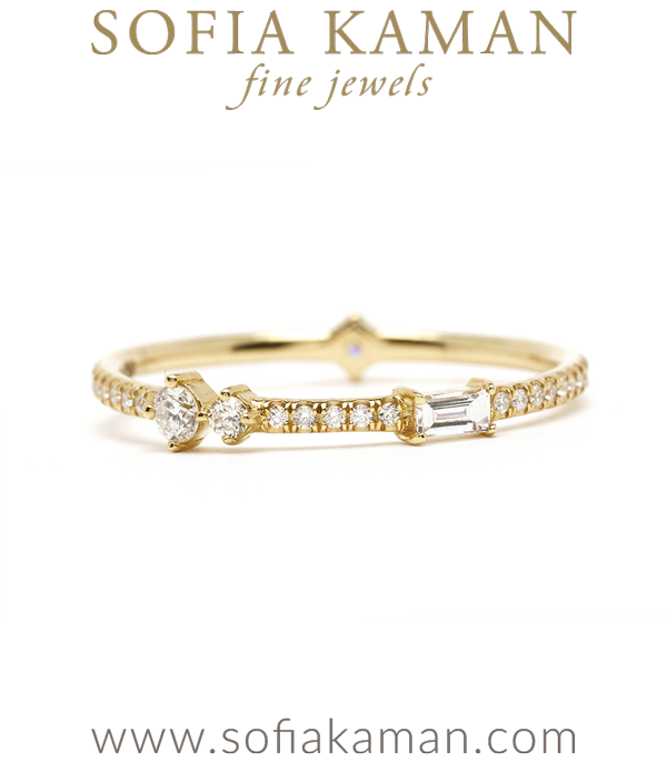 Non-Traditional Eternity Band for One of a Kind Engagement Rings designed by Sofia Kaman handmade in Los Angeles using our SKFJ ethical jewelry process.