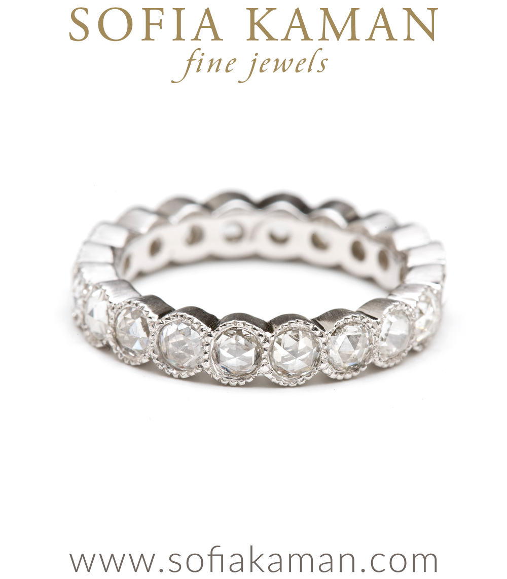 scalloped eternity bezel set bands diamond band alternating