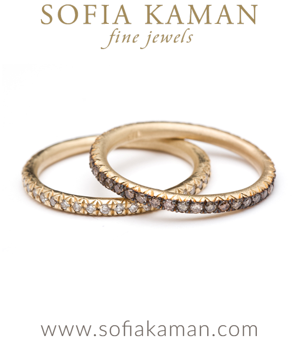 Micro Pave Champagne Diamond Eternity Band