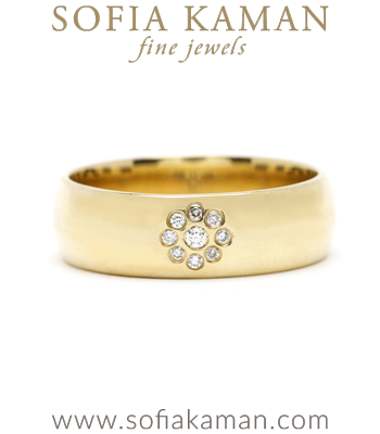 6mm Gold Cigar Wedding Band for Non-Traditional Engagement Rings designed by Sofia Kaman handmade in Los Angeles