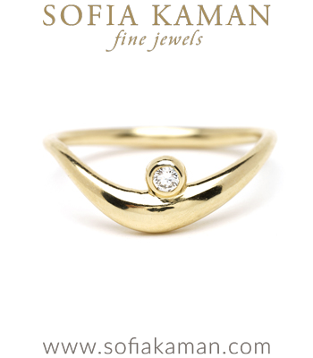 Organic Wedding Band for Unique Engagement Rings designed by Sofia Kaman handmade in Los Angeles