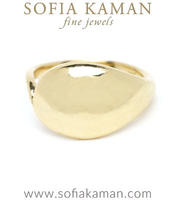 Organic Inspired Domed Melt Ring for Non-Traditional Engagement Rings designed by Sofia Kaman handmade in Los Angeles