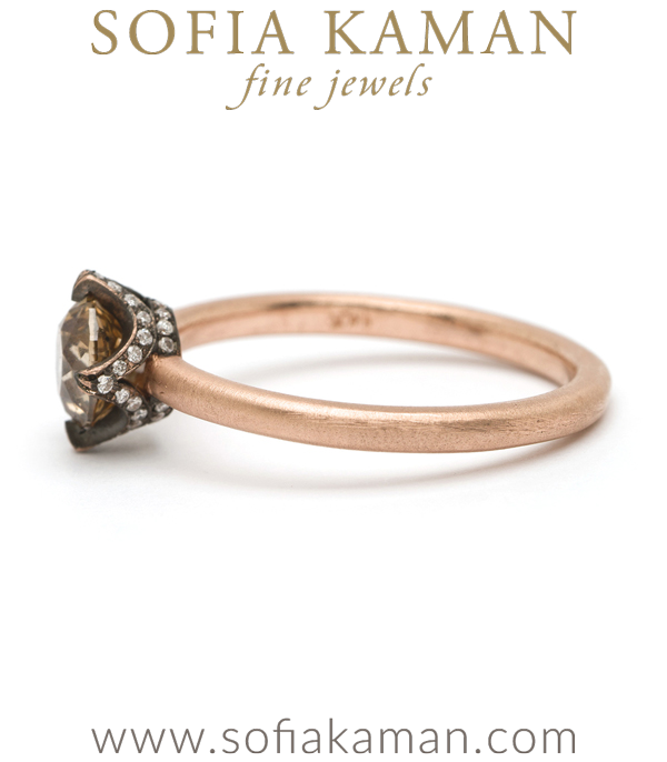 Champagne Diamond Engagement Ring By Sofia Kaman