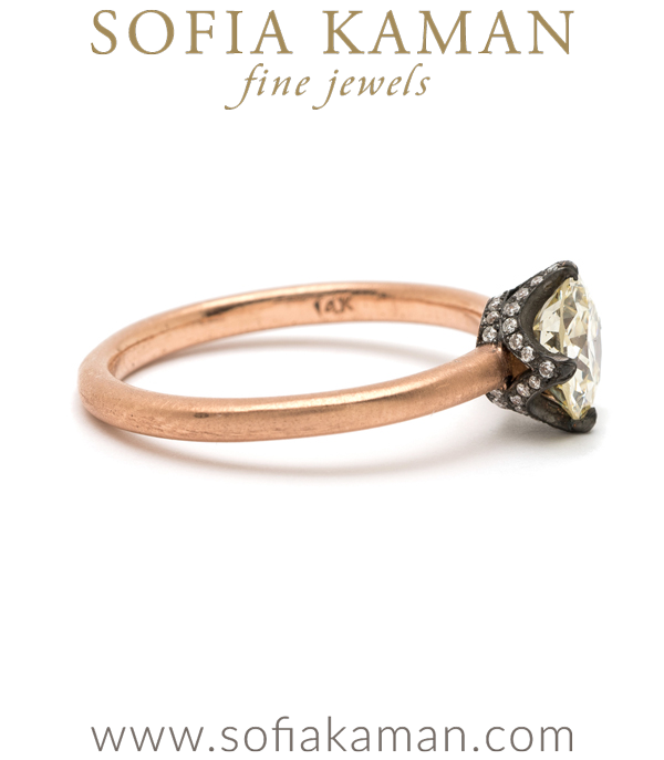 Bohemian Champagne Diamond One Of A Kind Ethical Engagement Ring