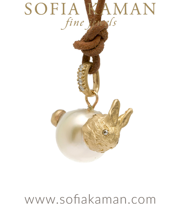 Pearl Necklace Bunny Charm