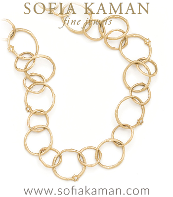 Natural Organic Gold Wedding Bridal Layering Bohemian Link Necklace made in Los Angeles