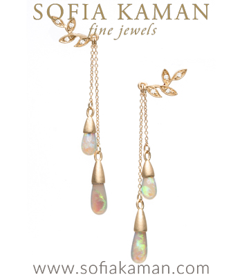 Opal Bohemian Bridal Earrings made in Los Angeles